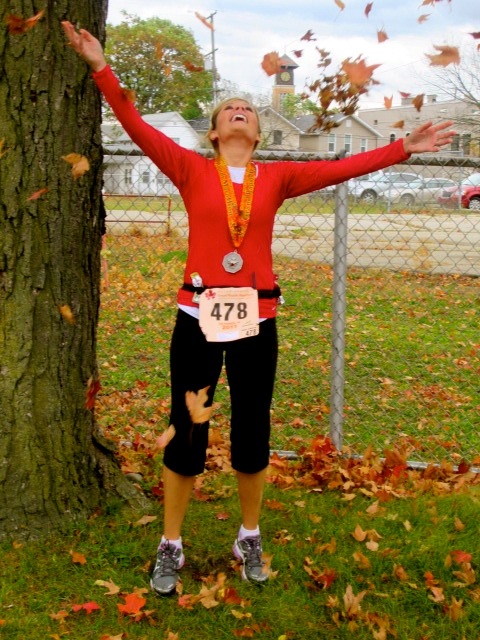 I love fall and this medal!