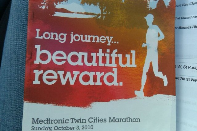 Finally finishing the Twin Cities Marathon was a long journey...and the reward was beautiful!