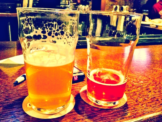 I liked the white ale and Ryan liked the red ale.