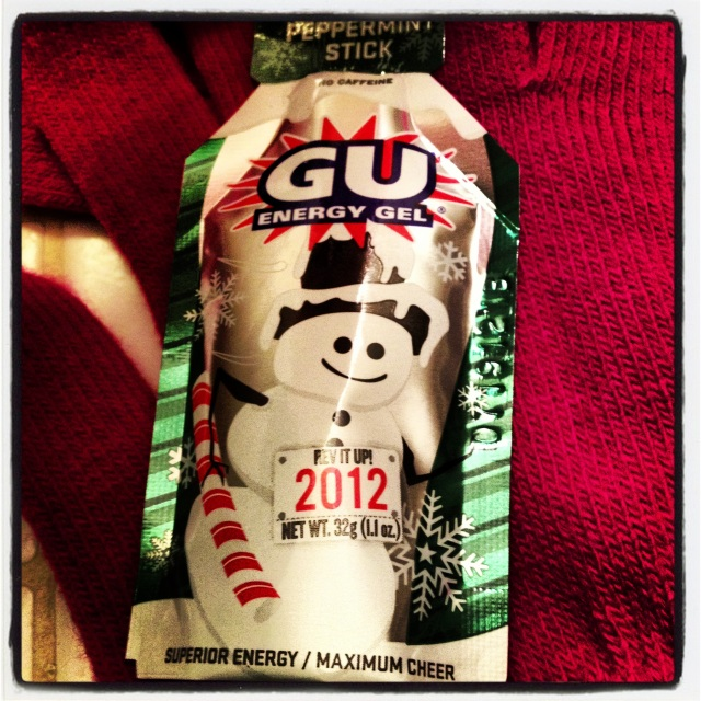 One of my new favorite flavors of GU that got through my December long runs with holiday cheer!