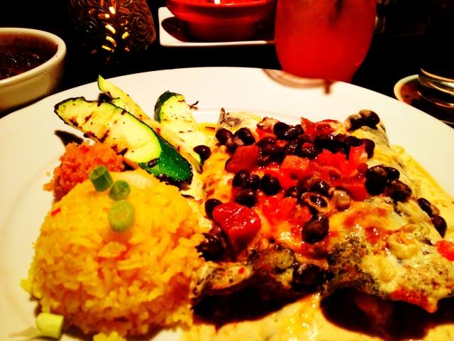 Blue corn enchiladas-YUM!