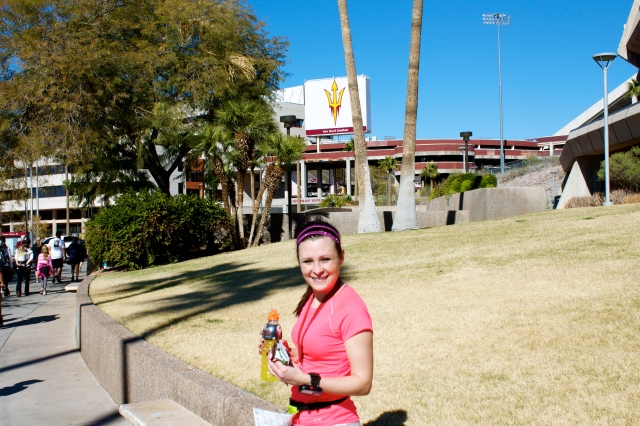 Enjoying the beautiful ASU campus and the glory of a new PR!