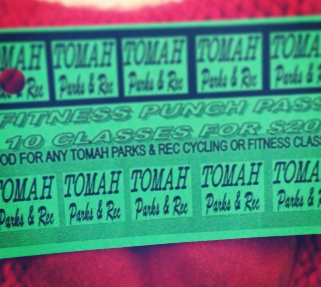 Spinning class punch card!  10 spins for $20 and how can you not go?