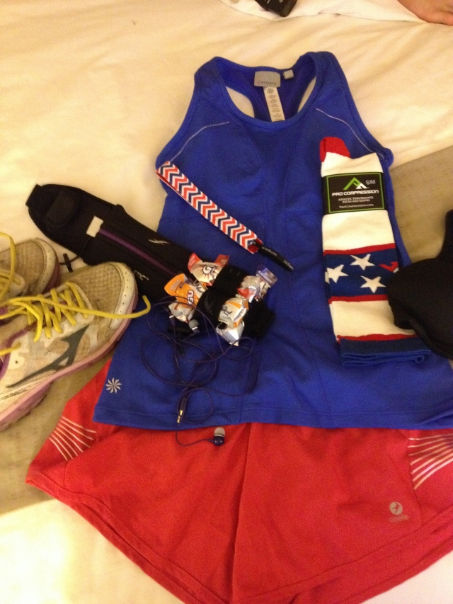 Tank-Athleta Turbocharge Tank, Shorts-Oiselle Distance Short, Socks-Procompression, Headband-Bic Bands